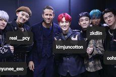 Ryan Reynolds Pamer Foto Bareng EXO, Berasa Jadi Member Boyband