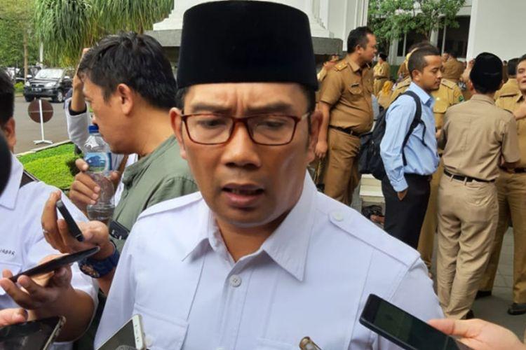 Gubernur Jawa Barat Ridwan Kamil saat ditemui di Gedung Sate, Jalan Diponegoro, Senin (16/9/2019).