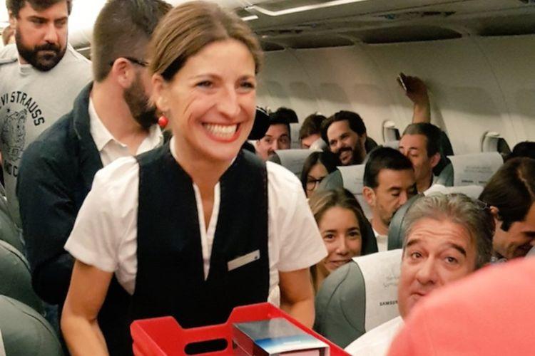 Bagi bagi ponsel gratis di Iberia Airlines