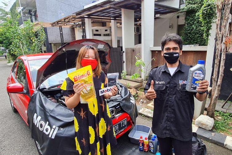 BRUM bergandengan bersama PT ExxonMobil Lubricants Indonesia (EMLI) melalui brand Mobil Lubricants berkolaborasi memberikan servis bagi pelanggan dengan protokol kesehatan ketat selama masa pandemi Covid-19.