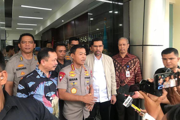 Kapolri Jenderal (Pol) Idham Azis bertemu dengan pimpinan Komnas HAM, Senin (17/2/2020).