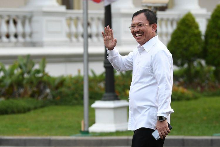 Terawan Agus Putranto saat tiba di Kompleks Istana Kepresidenan di Jakarta, Selasa (22/10/2019). ANTARA FOTO/Wahyu Putro A/wsj.