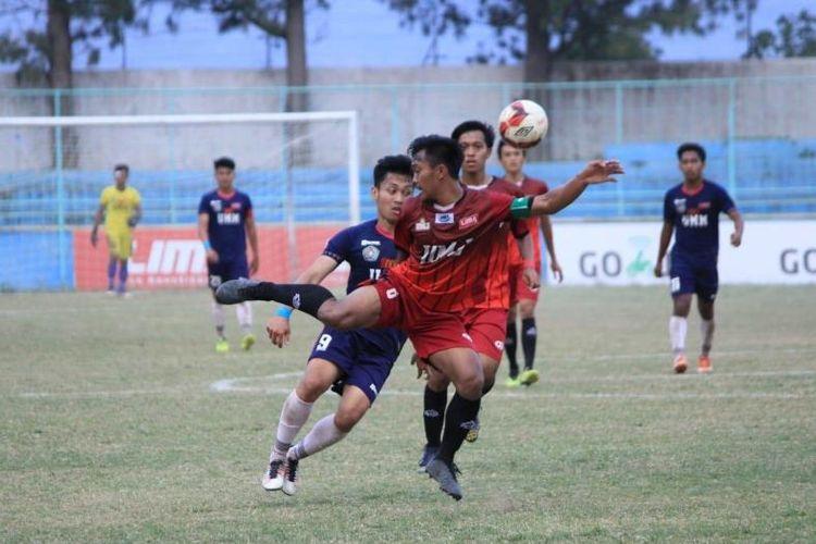 Duel sesama Muhammadiyah, antara Univ. Muhammadiyah Malang (UMM) dan Univ. Muhammadiyah Jakarta (UMJ), menjadi sajian pamungkas Liga Mahasiswa (LIMA) Football Nationals 2018 pada Selasa (25/9).