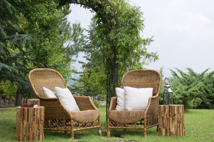 Ilustrasi furnitur bambu.