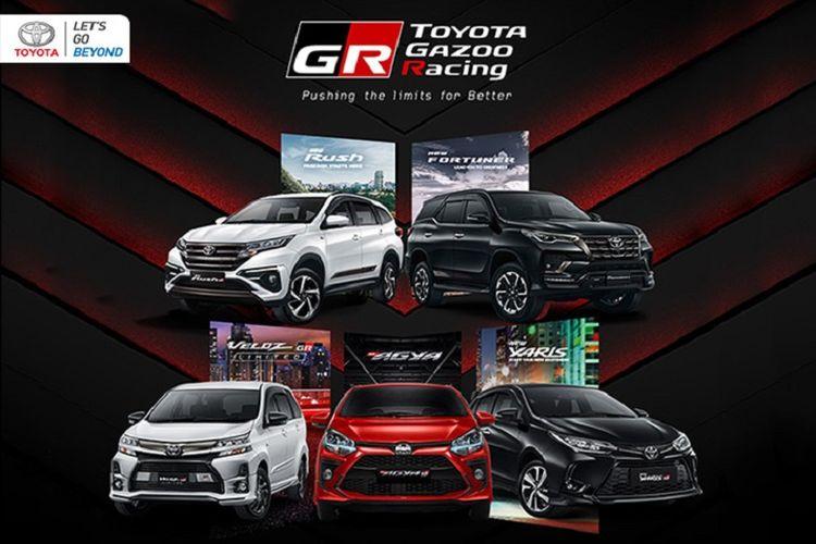 Berbagai line-up motorsport Toyota Gazoo Racing (TGR).