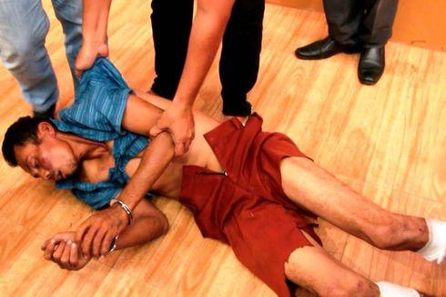 Ditanya Polisi, Suami Pembunuh Istri dan 2 Anak Tiri Kesurupan di Polres