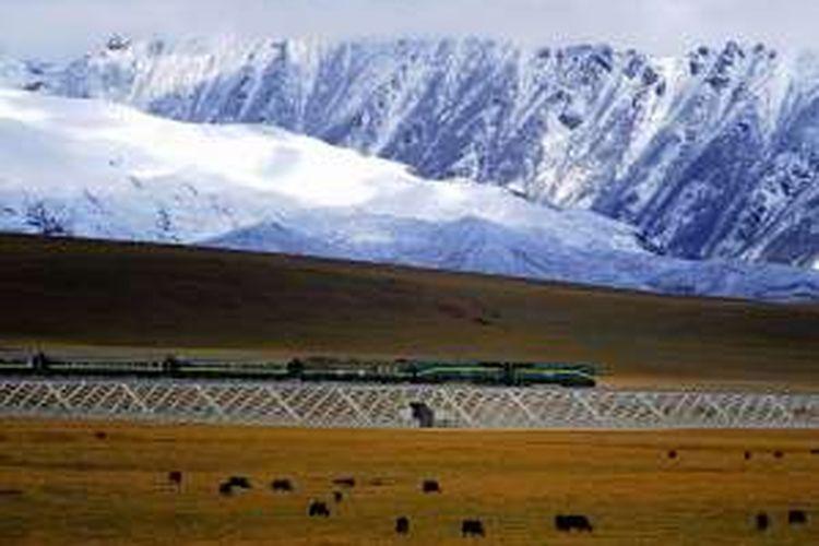Pada 2006, China menyelesaikan pembangunan jaringan rel kereta api sepanjang lebih dari 1.000 kilometer yang menghubungkan Tibet dengan wilayah lain negeri itu.