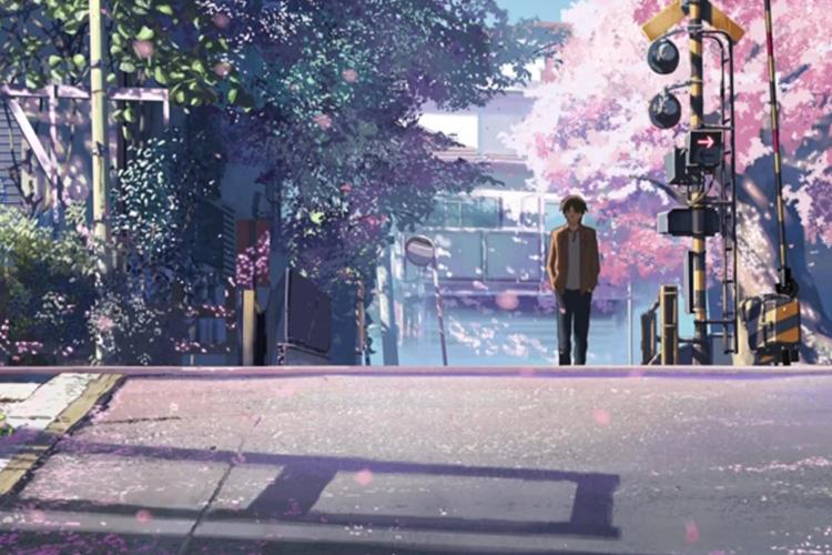 Salah satu adegan dalam film animasi Jepang, 5 Centimeters Per Second (2007).