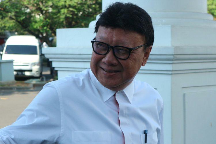 Mantan Mendagri sekaligus politisi PDI-P, Tjahjo Kumolo datang ke Istana, Selasa (22/10/2019).