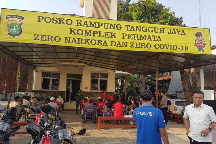 posko Kampung Tangguh Jaya telah dibangun di RW 07, Kelurahan Kedaung Kaliangke, Cengkareng, Jakarta Barat.