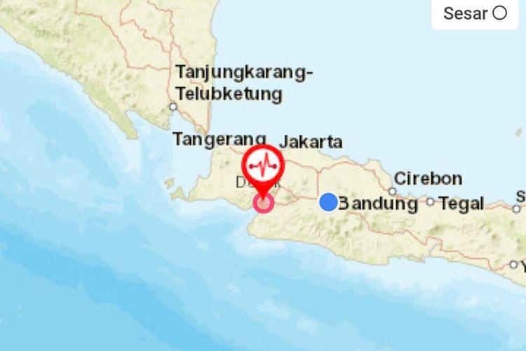 Gempa bumi mengguncang Sukabumi