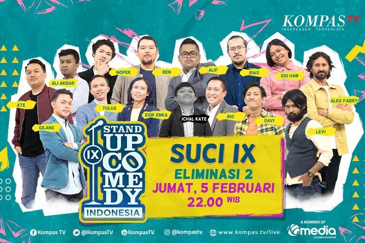Show Eliminasi 2 SUCI IX, Komika Bakal Bawa Materi dengan Tema Cinta
