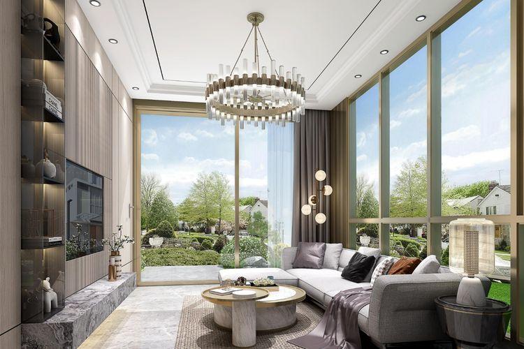 DUO, dirancang dengan langgam modern minimalis, terdapat dua muka fasad.