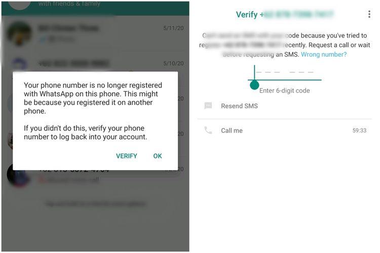 Cara verifikasi akun Whatsapp yang masuk di perangkat lain