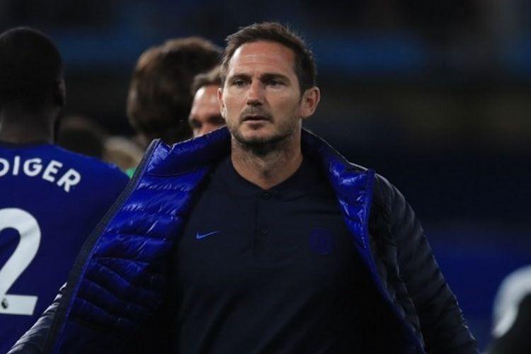 Frank Lampard seusai laga Chelsea vs Norwich City pada pekan ke-36 Liga Inggris 2019-2020.