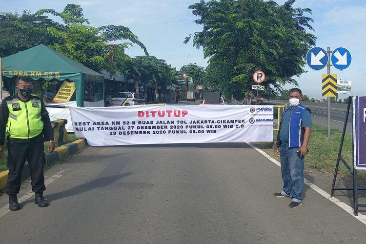 Penutupan Rest area di Tol Trans Jawa.