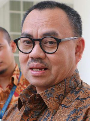 Mantan Menteri Energi Sumber Daya Mineral (ESDM) Sudirman Saidketika ditemui di Istana Wakil Presiden, Jakarta, Kamis (26/10/2017).