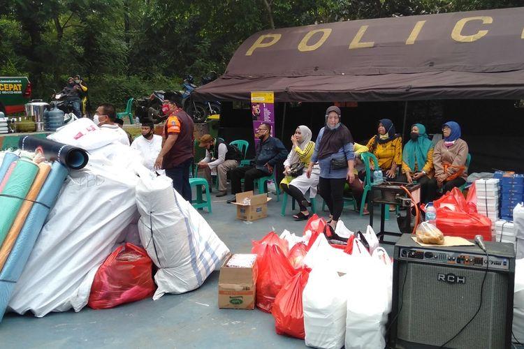 lokasi posko warga korban kebakaran di Jalan Pemuda I, Kelurahan Rawamangun, Pulogadung, Jakarta Timur, Jumat (10/7/2020)