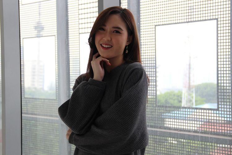Shinta Naomi saat berkunjung ke redaksi Kompas.com di Menara Kompas, Palmerah Selatan, Selasa (17/9/2019).