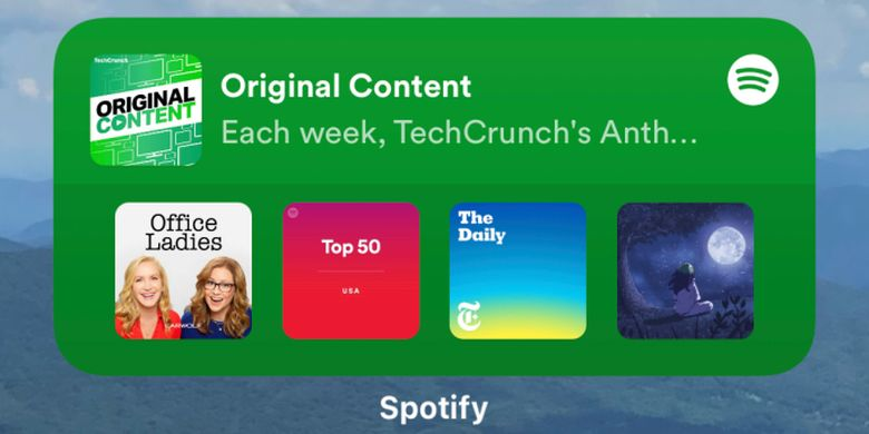 Widget Spotify di iOS 14