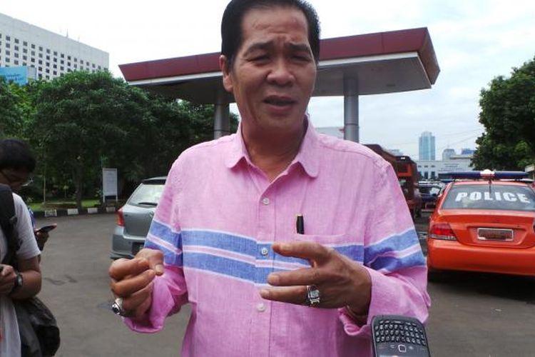 Ketua Persatuan Islam Tionghoa Indonesia (PITI) Ramdhan Effendi atau lebih dikenal dengan nama Anton Medan di Jakarta, Selasa (28/5/2013).