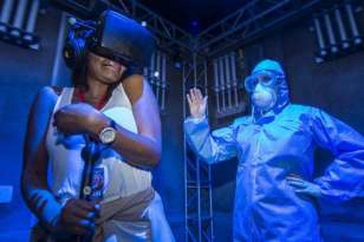 Universal Orlando Resort, Amerika Serikat, menggunakan teknologi Virtual Reality (VR) pada wahana rumah hantu mereka.