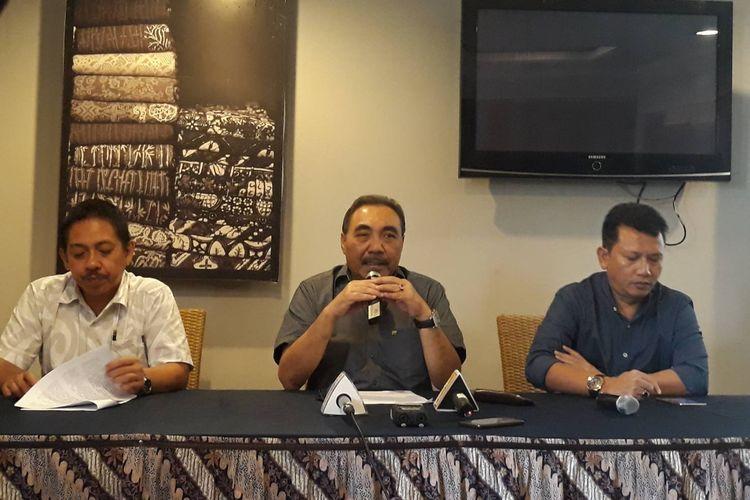 Konferensi pers LPSK di kawasan Menteng, Jakarta Pusat, Minggu (25/8/2019).