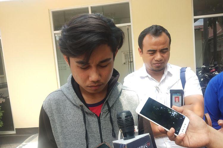 Ikhsan didampingi kuasa Hukum dalam agenda memberikan Kesaksian terhadap kasus meninggalnya Zaenal yang diduga oleh oknum Polisi Polres Lombok Timur.