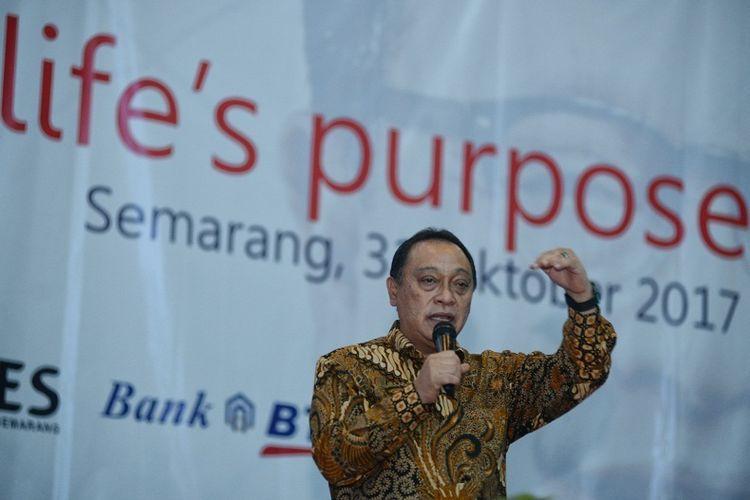 Dirut BTN Maryono saat membuka kuliah umum di Universitas Negeri Semarang (Unnes), Jawa Tengah, Selasa (31/10/2017)