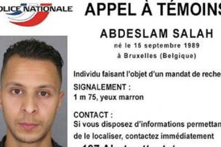 Abdeslam Salah disebut sebagai orang yang berbahaya oleh kepolisian Perancis