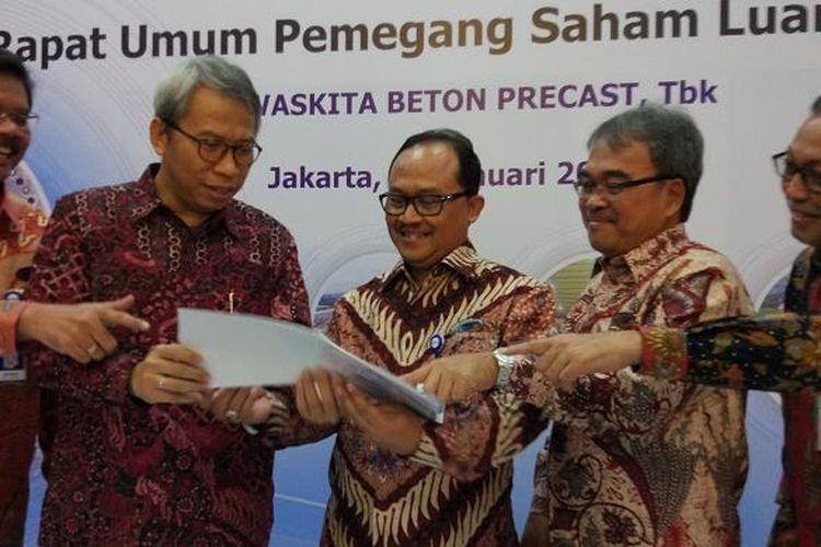 Rapat Umum Pemegang Saham Luar Biasa (RUPSLB) di Gedung Waskita Beton Precast, Jakarta, Selasa (31/1/2017).