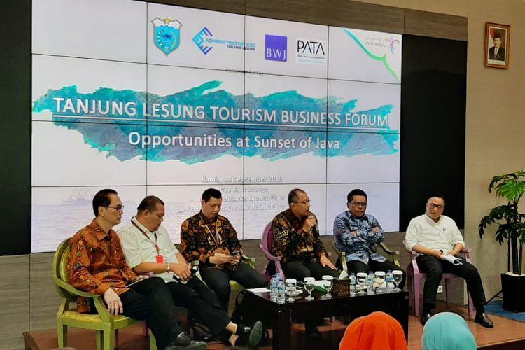 PT Banten West Java, pengelola KEK Tanjung Lesung, menggelar Tanjung Lesung Tourism Business Forum dengan tema Opportunities at Sunset of Java di Menara Batavia Jakarta, Kamis (19/9/2019).