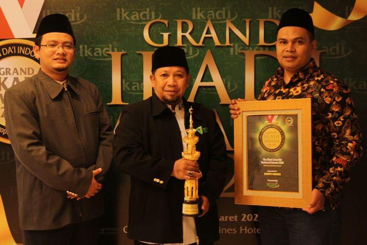 Awali 2020, Yayasan Dompet Dhuafa, raih penghargaan sebagai NGO Islam terfavorit dari Ikatan Dai Indonesia (IKADI), di Jakarta, Sabtu (7/3/2020)..