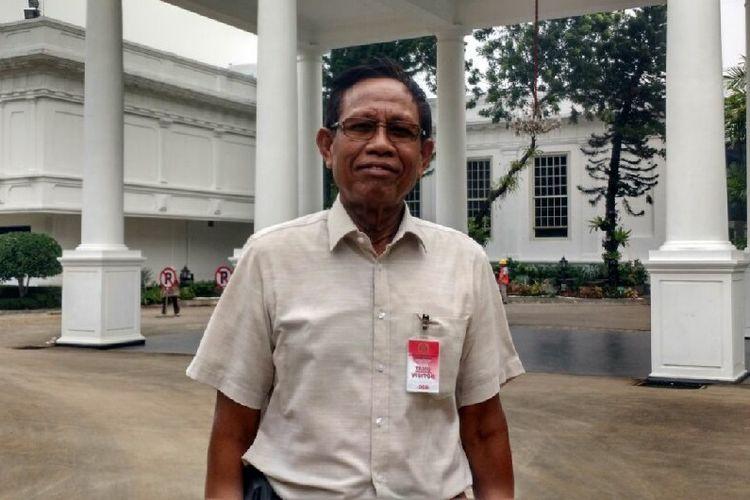 Pelawak Tarzan di Istana Kepresidenan, Jakarta, Jumat (3/11/2017).