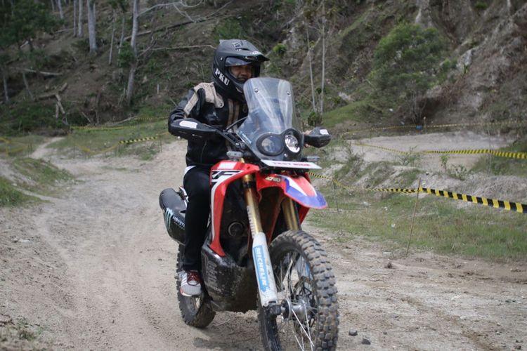 Salah satu daya tarik di HBD Regional Sumatera, bikers boleh menjajal Honda CRF250Rally.