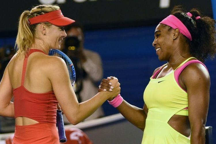 Maria Sharapova dan Serena Williams.