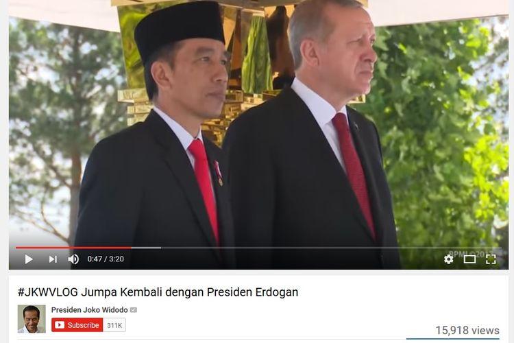 Presiden Joko Widodo bersama Presiden Turki Recep Tayyip Erdo?an