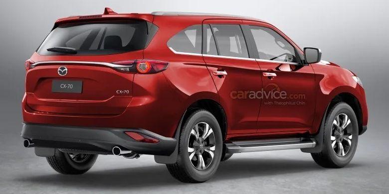 Ilustrasi Mazda CX-70