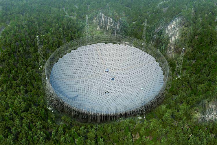 FAST, teleskop radio terbesar dan paling sensitif yang pernah diciptakan.