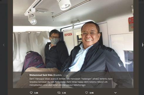 Penjelasan Said Didu soal Menumpang Ambulans Bareng Rocky Gerung ke Lokasi Acara