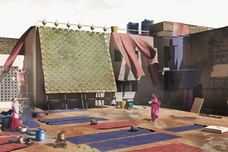 Material bangunan bernama Indus tersebut dibuat menggunakan proses ilmiah yang disebut bioremediation.