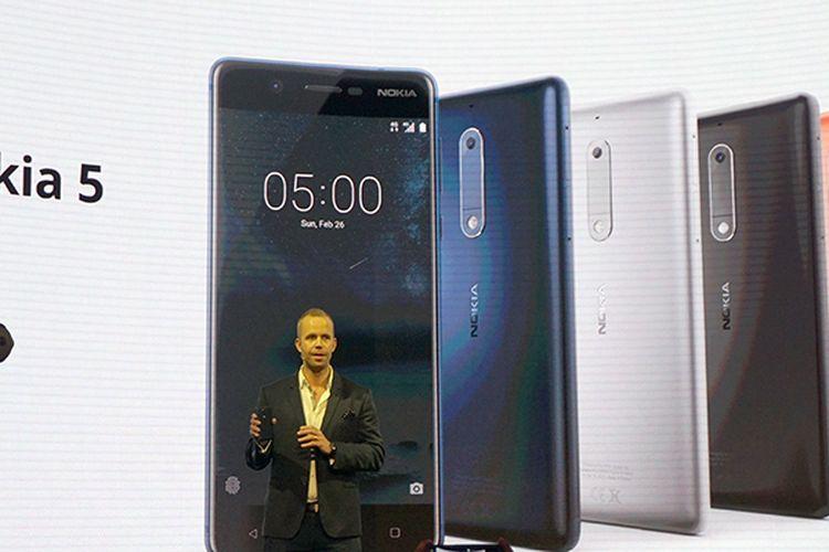 Nokia 5 saat dirilis di ajang MWC di Barcelona, Minggu (26/2/2017).