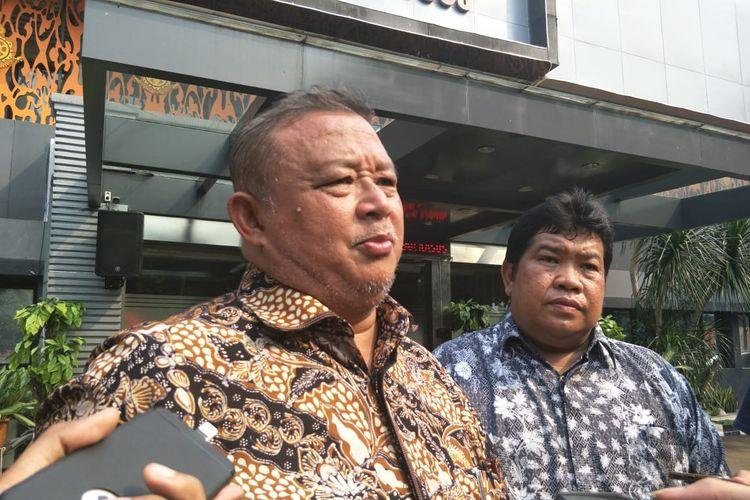 Kuasa hukum PT Sekar Wijaya, Hermawi Taslim di Ditreskrimsus Polda Metro Jaya, Jumat (29/3/2019).