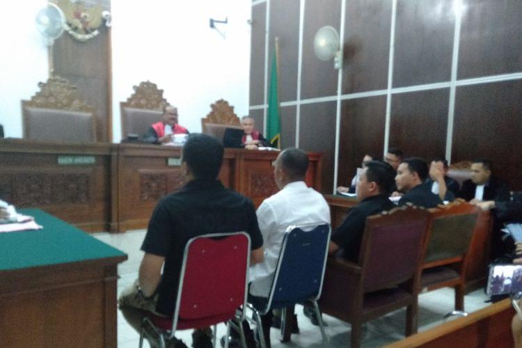 Empat Penyidik Satgas Anti Mafia Bola Bersaksi Dalam Kasus Pengerusakan Barang Bukti dengan Terdakwa Joko Driyono di Pengadilan Negeri Jakarta Selatan, Selasa (28/5/2019)