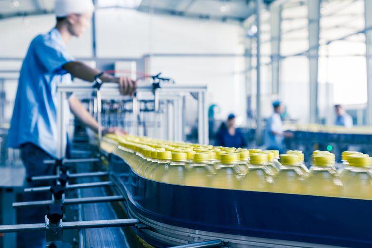 Ilustrasi industri makanan dan minuman