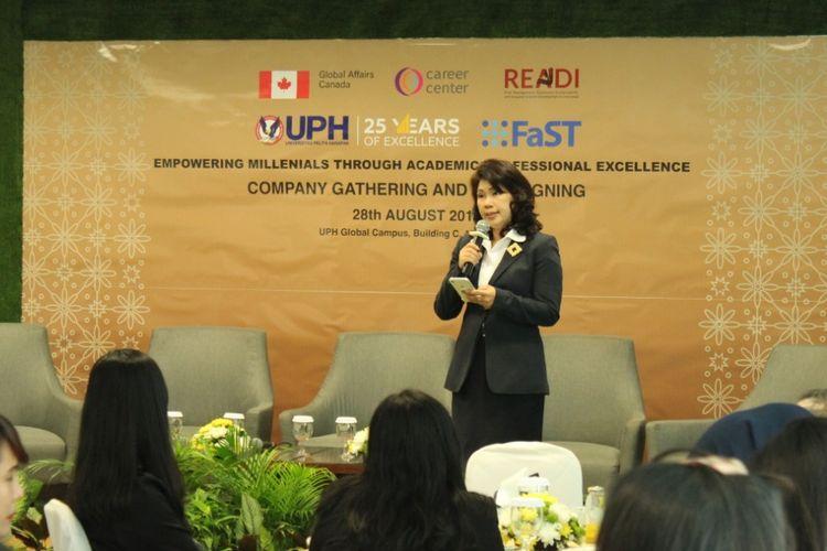 Corporate Relations and Career Development Director of Universitas Pelita Harapan (UPH) Nursari Dewi Lugito