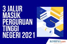 INFOGRAFIK: 3 Jalur Masuk Perguruan Tinggi Negeri (PTN) 2021