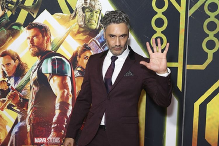 Sutradara Taika Waititi menghadiri gala premiere film produksi Marvel Studios, Thor:Ragnarok, di Hoyts EQ, Sydney, Australia, Minggu(15/10/2017).