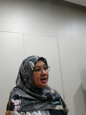 Direktur Pencegahan dan Pengendalian Penyakit Tular Vektor dan Zoonotik Kementerian Kesehatan (Kemenkes) Siti Nadia Tarmizi dalam konferensi pers di Kantor Kemenkes, Kuningan, Jakarta Pusat, Rabu (11/3/2020).