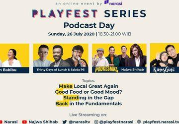 Usung Tema Podcast Day, Playfest Series Musim Kedua Digelar